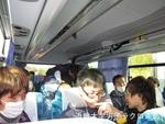 鹿島合宿行きのバス